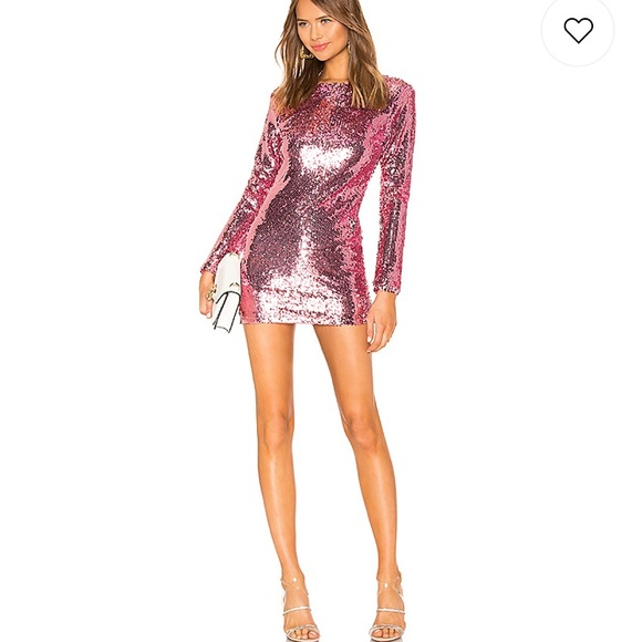 Superdown pink sequin brand new dress.